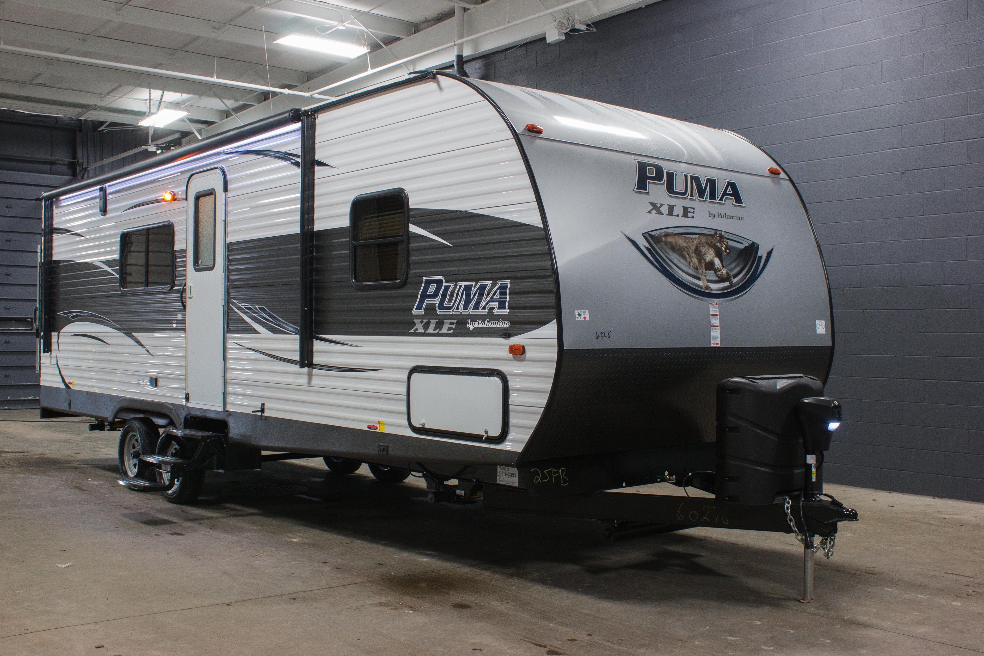 2016 Puma XLE 25FBC toy hauler travel trailer
