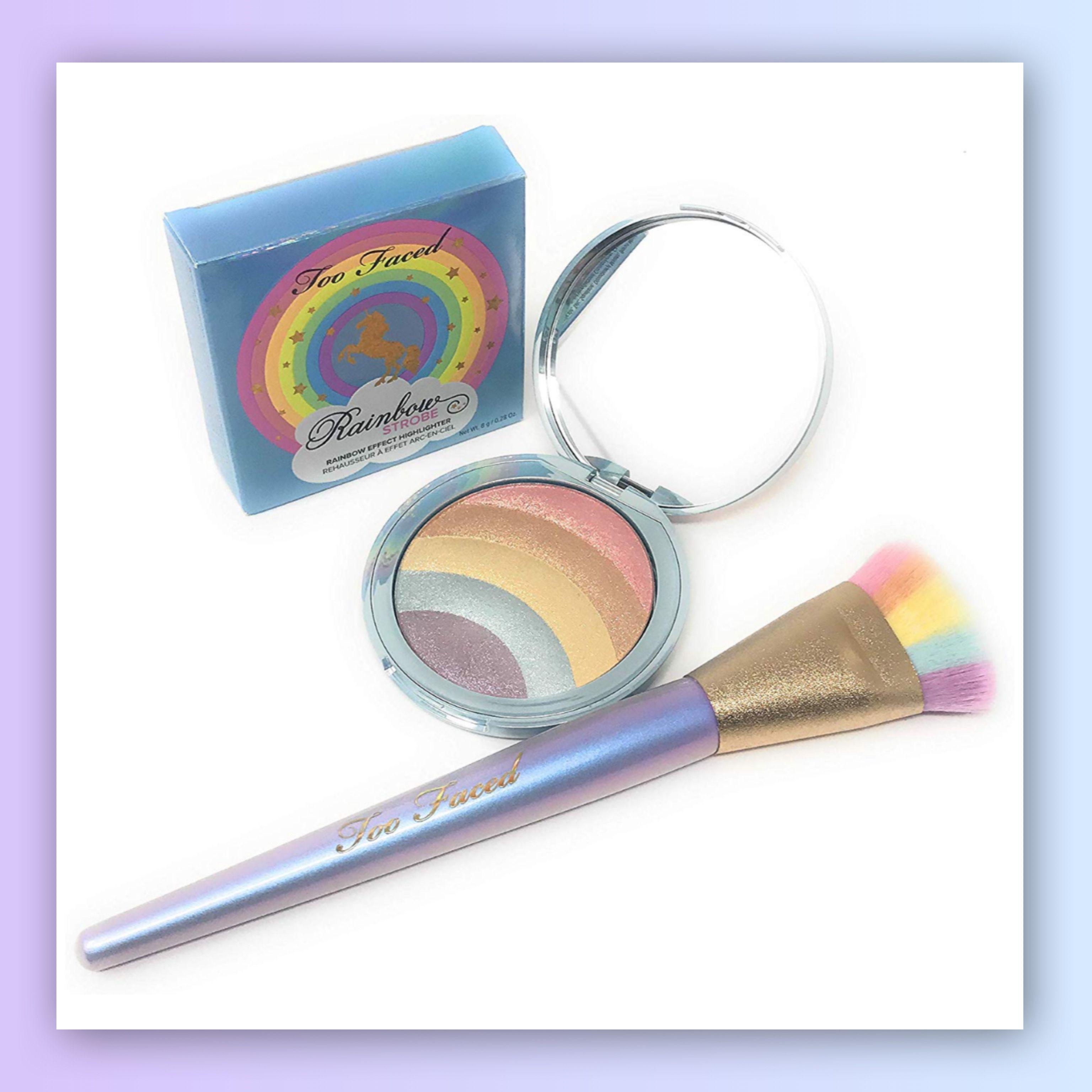 Rainbow Strobe Highlighter & Magic Rainbow Strobing Brush