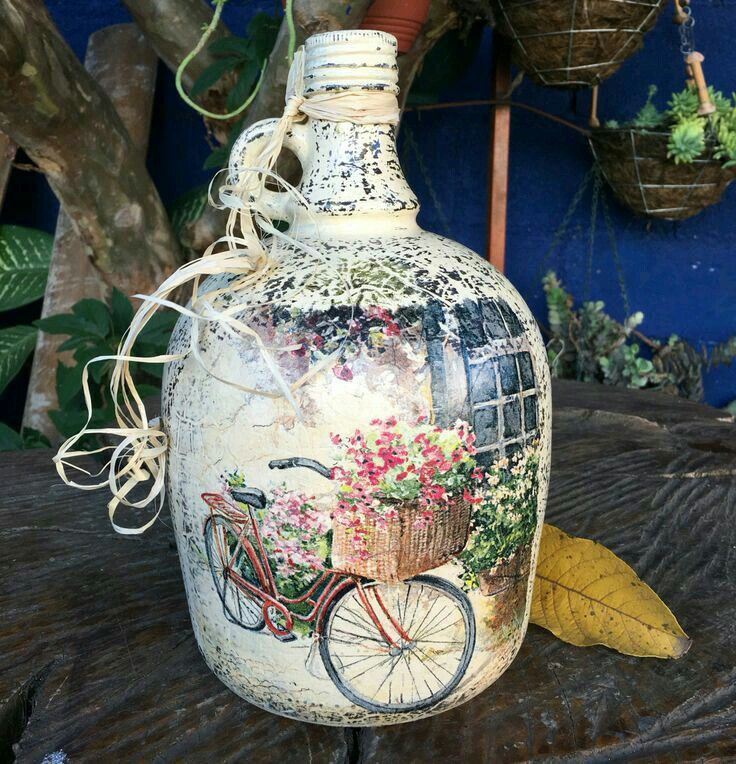 Pin By Michele Porter On Decorated Bottles Decoupage