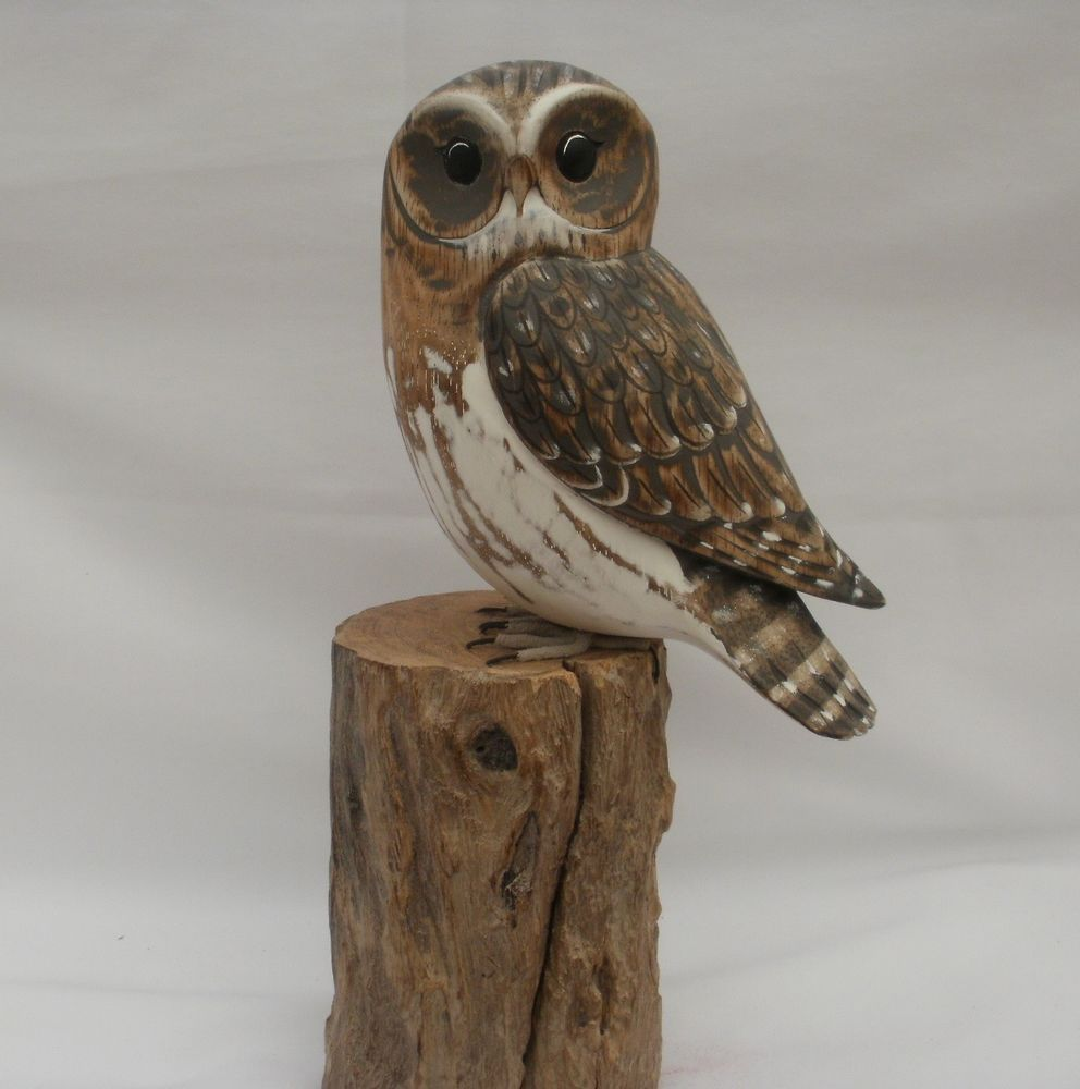 Archipelago wood carving of little owl country gifts