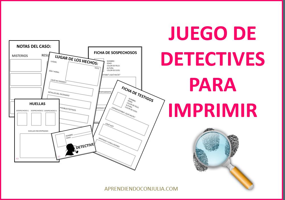 Primos S A Agencia De Detectives Y Con Juego Para Imprimir Aprendiendo Con Julia Enigmas Para Niños Habitación De Escape Juegos De Pistas