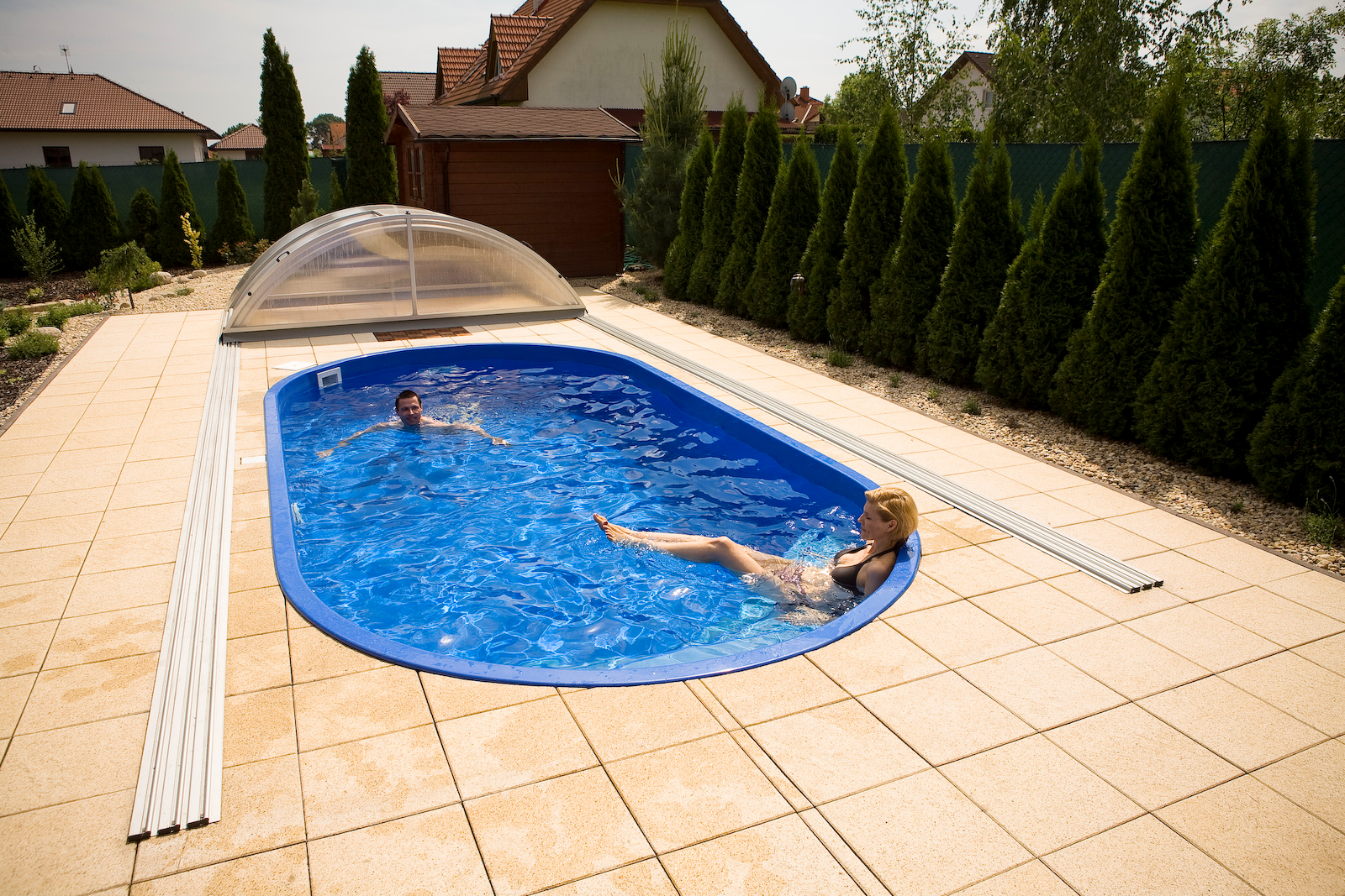 Gfk Pool Komplettset Oval Gfk Pool Backyard Plunge Pool Ideas In 2019 Schwimmbecken
