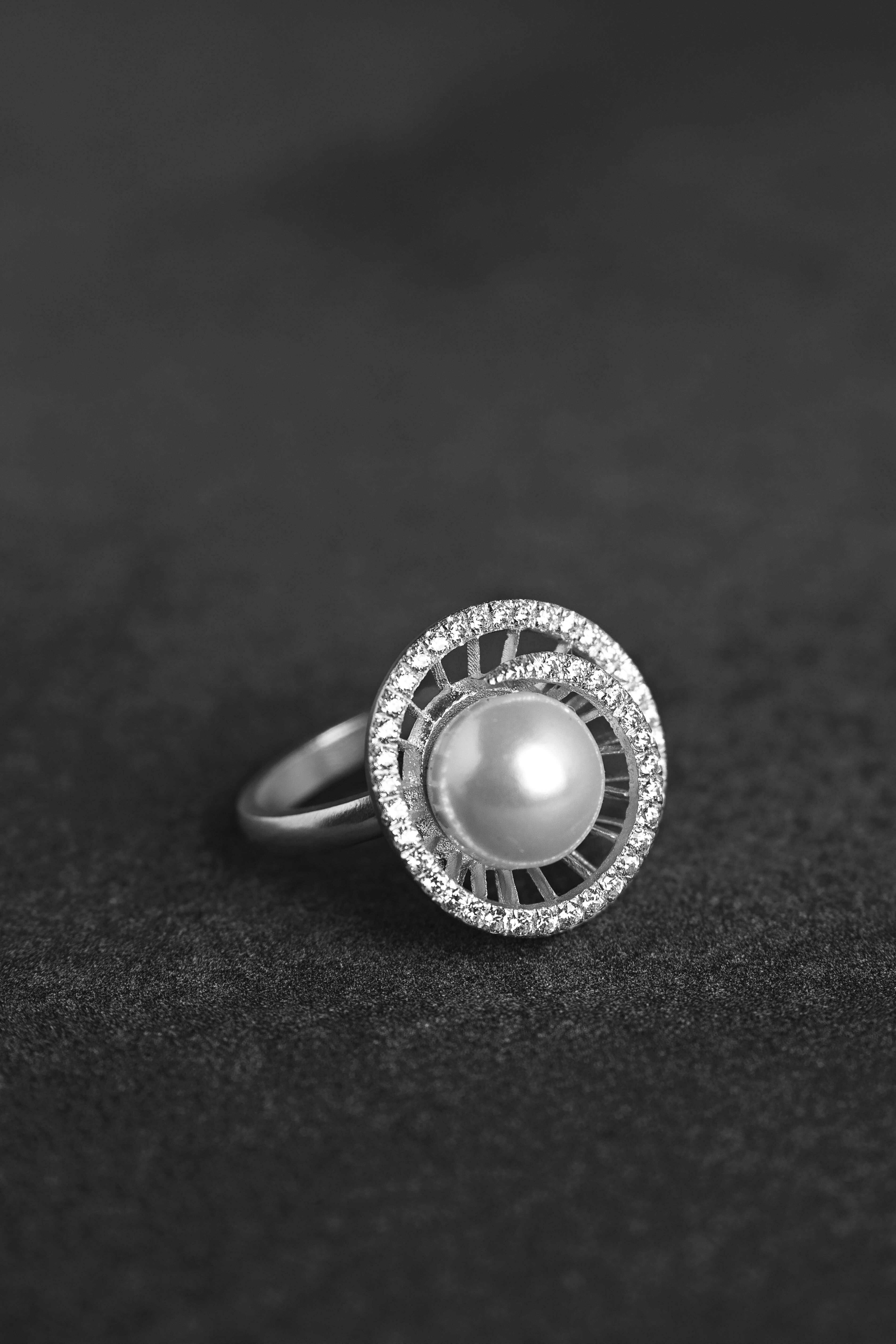 taille 6.5 Moderniste Cultured Pearl /& 14kt Solide Or Jaune Bague