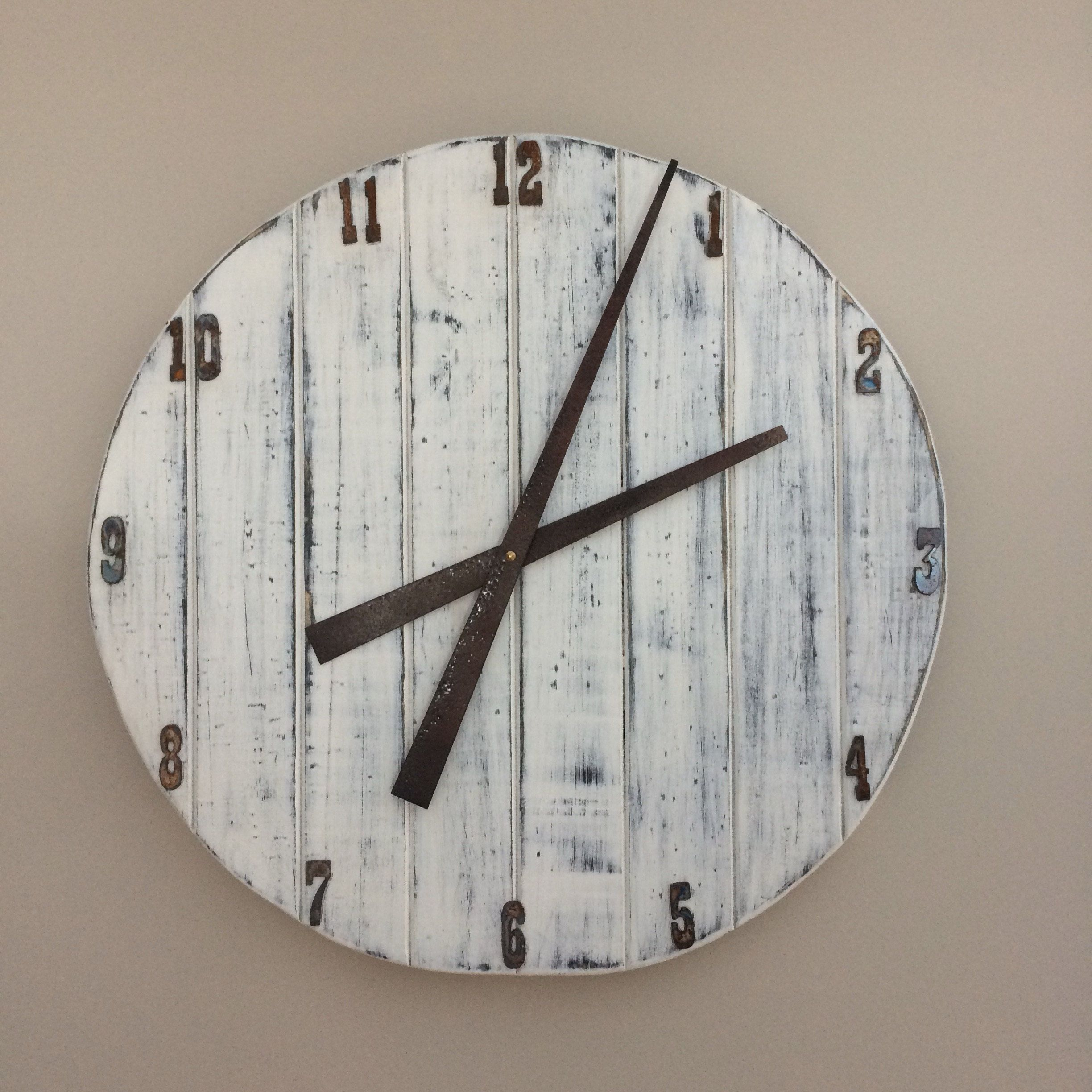 Custom Pallet Clock completed by our customer