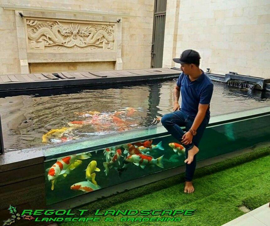 Jasa Pembuatan Kolam Ikan Koi Minimalis Di Surabaya Kolam Ikan Koi Kolam Ikan Kolam