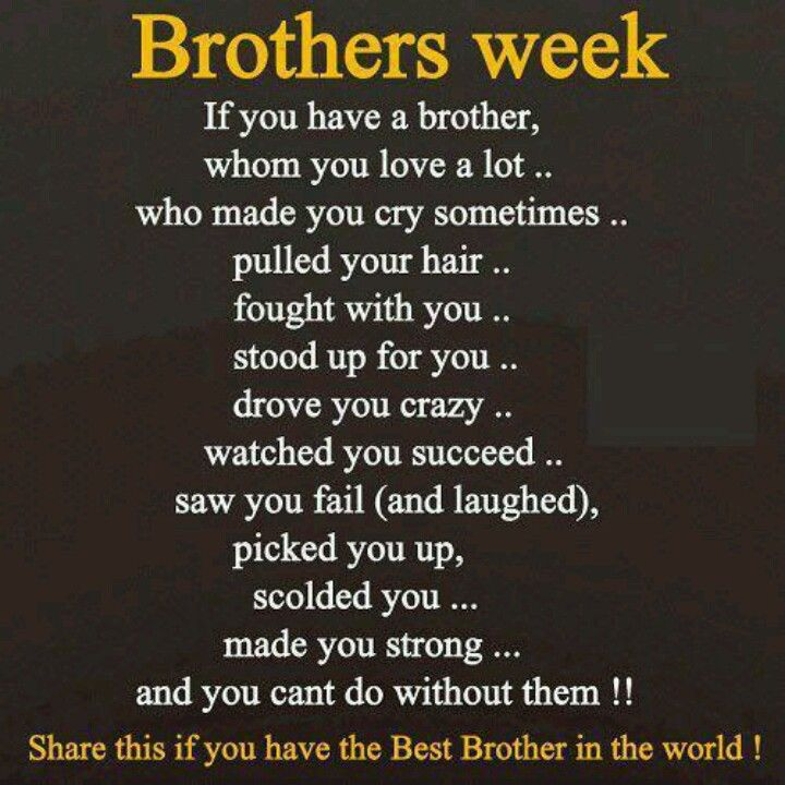 Brother Brother Quotes I Love My Brother Big Brother Quotes