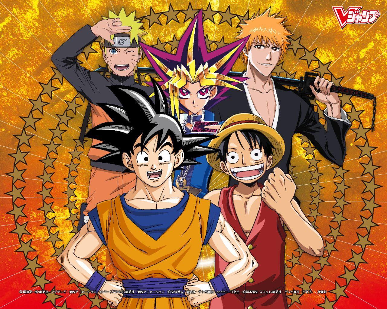 Goku Luffy Naruto Ichigo