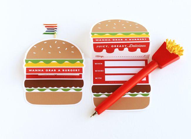 Letu0027s Grab A Burger Invitation Printable DESIGN IS YAY! DIY - fresh birthday invitation video templates