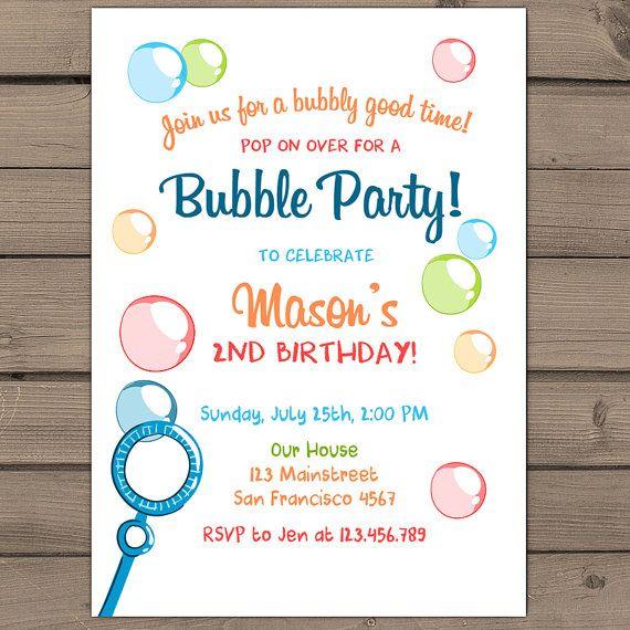 Bubble birthday party invitation bubble party by anietillustration bubble birthday party invitation bubble party by anietillustration filmwisefo