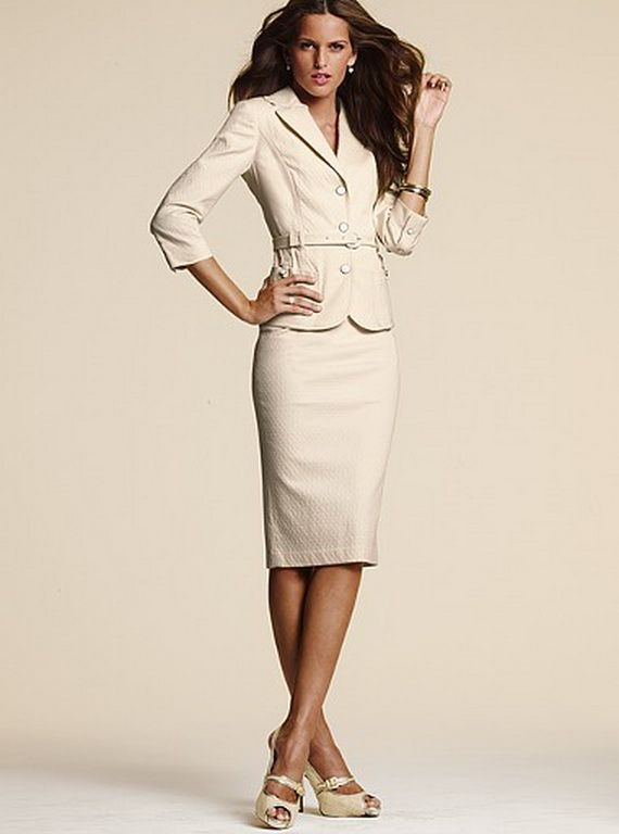 Skirt Suits for Women | Fashion In Shades Of Brown, Neutrals ...