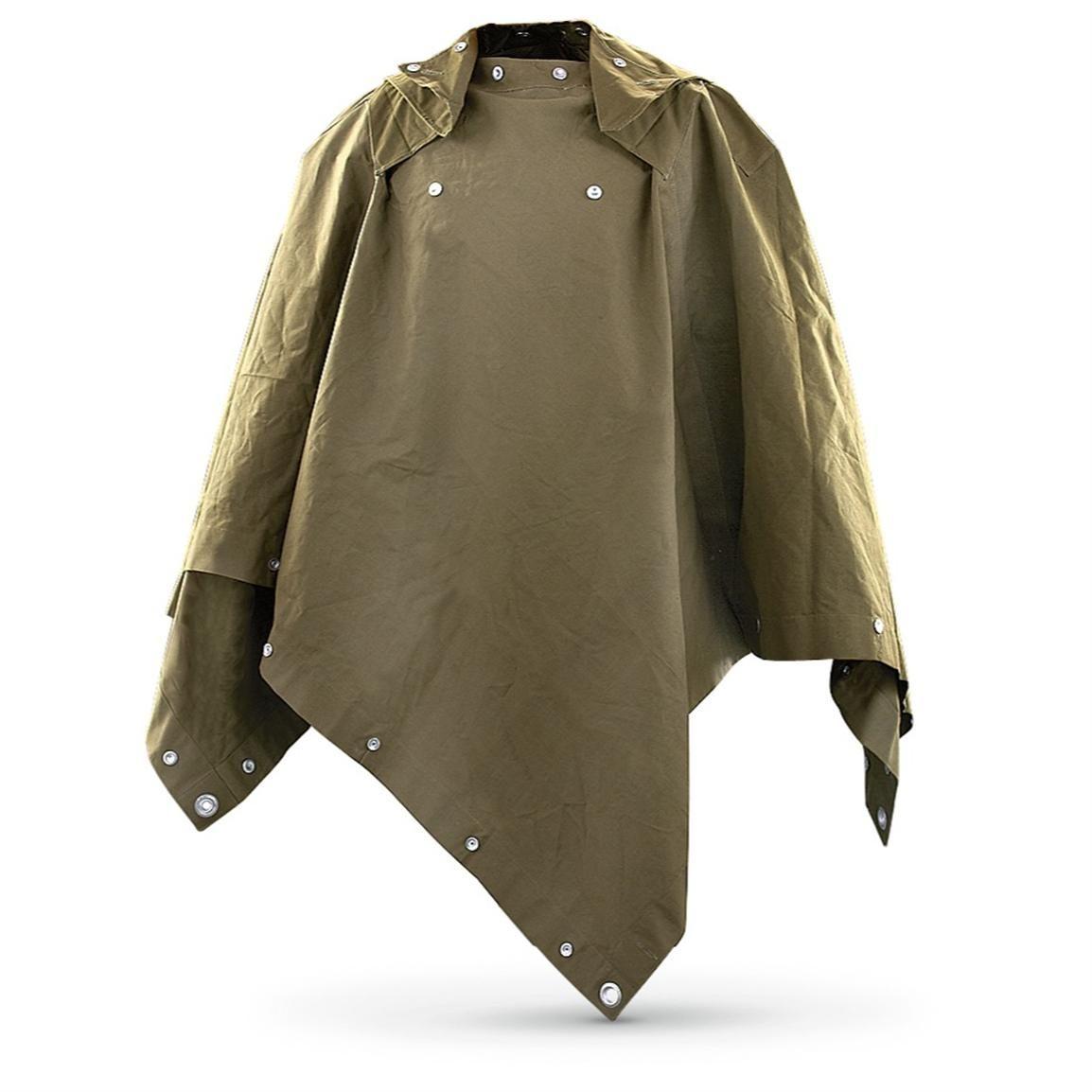 1fbde3fa04c22 2 Used Dutch Military Shelter / Ponchos, Olive Drab | Uniformity ...
