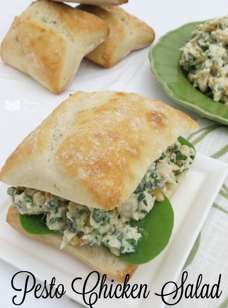 This chicken salad recipe is so tasty! You really can't go wrong with this easy chicken recipe that's perfect for summer. Pesto chicken recipes
