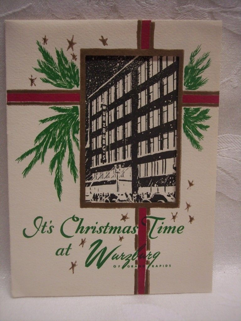 Its Christmas Time At Wurzburg Greeting Card C 1940 Grand