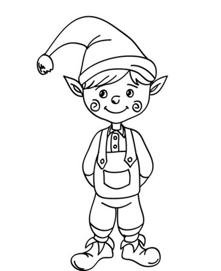 elves coloring pages printable - Google Search | TEACH | Pinterest ...