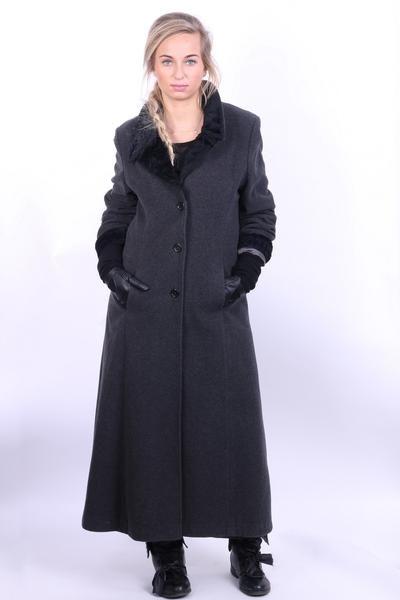 Bellandi Womens M Coa Dark Grey Wool Cashmere & Wool Italy Vintage - RetrospectClothes