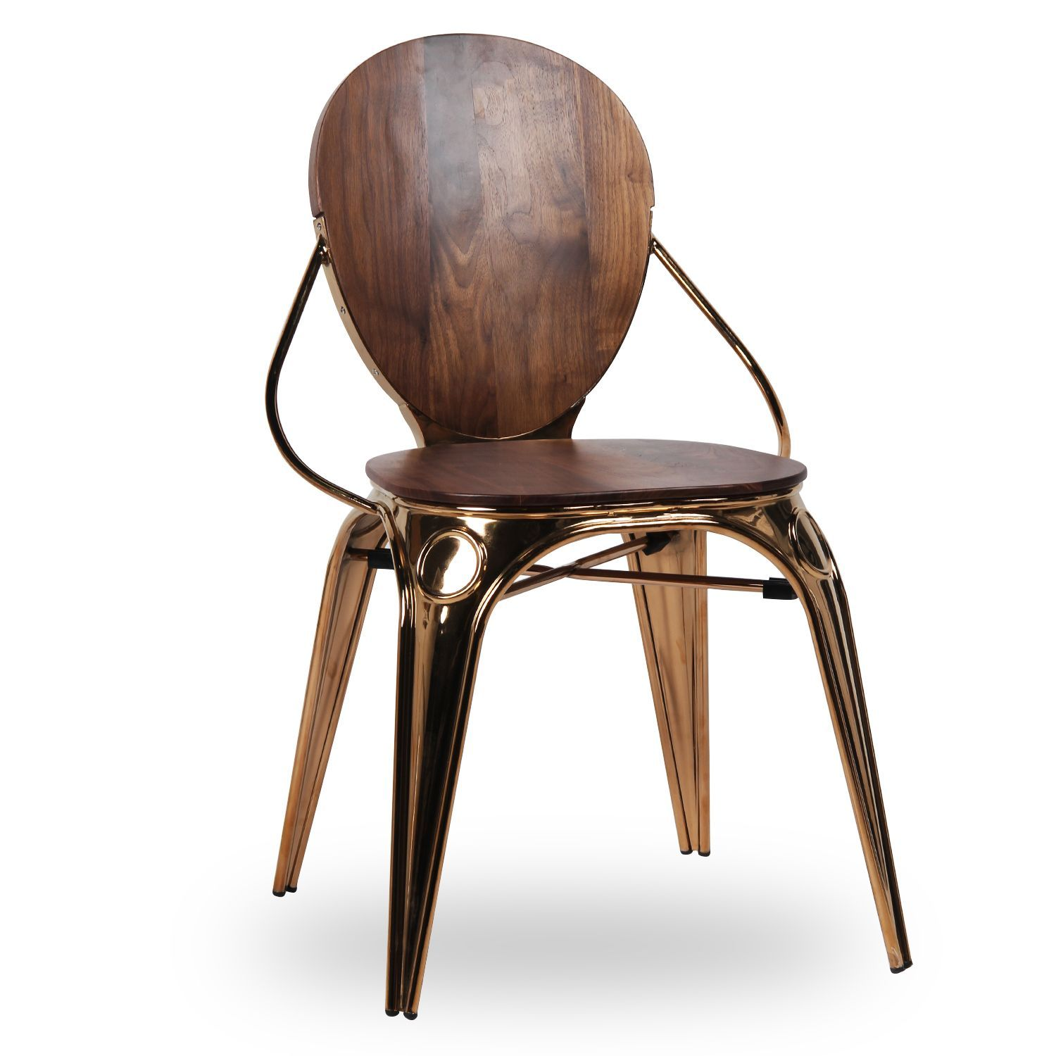 Wooden chairs design classics - Silla Ovei Metal Wood Sillas Met Licas Louix Chair Sillas De
