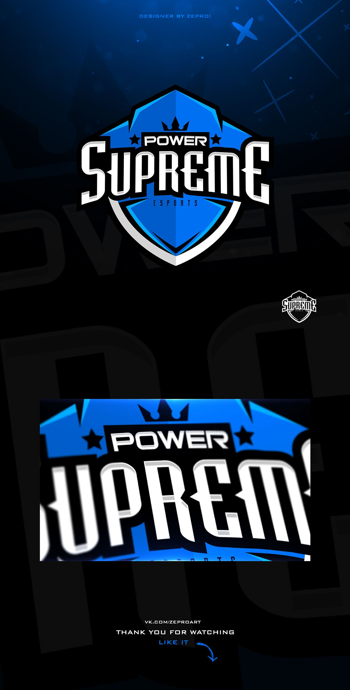 SupremePower E-sport team on Behance