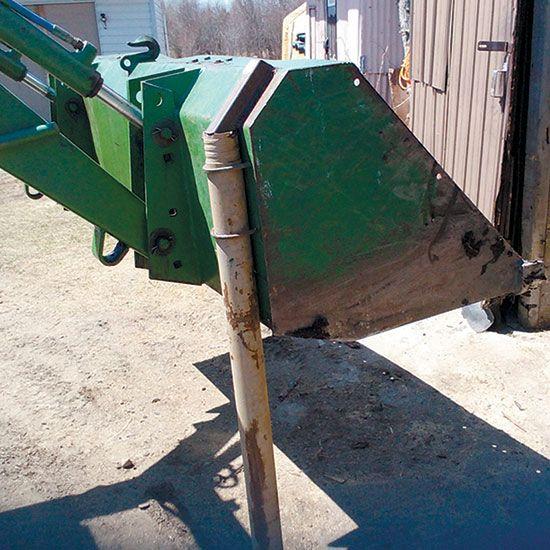 DIY Loader Bucket Fence Post Driver - Tools - GRIT Magazine
