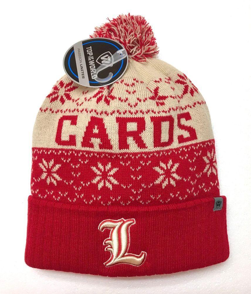 official photos 5e968 bd8b6 new LOUISVILLE CARDINALS POM BEANIE ugly sweater knit Cards Winter Hat Men  Women  TopoftheWorld  Beanie  LouisvilleCardinals