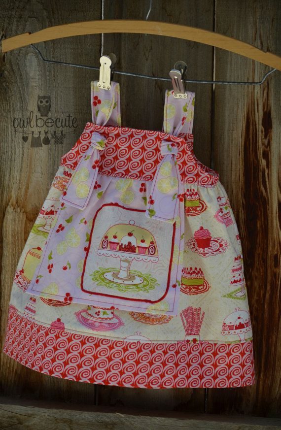 RTS 6 month Tea for Two Apron Knot Dress