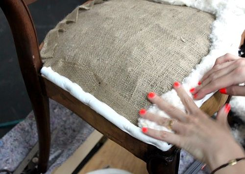Great tutorial for rebuilding chair seats before upholsteringGreat tutorial for rebuilding chair seats before upholstering  . Recover A Round Chair Seat. Home Design Ideas
