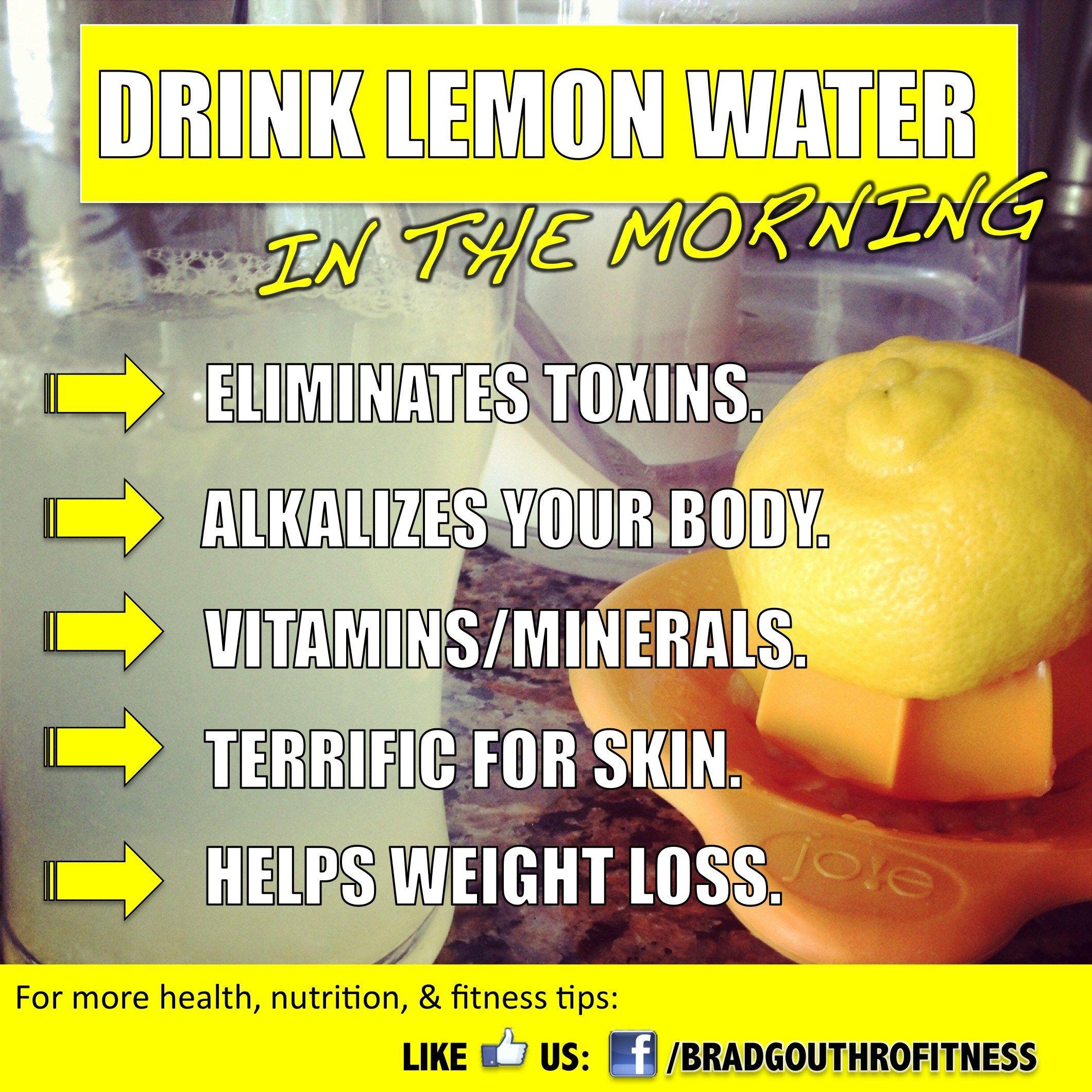 benefits of drinking lemon water