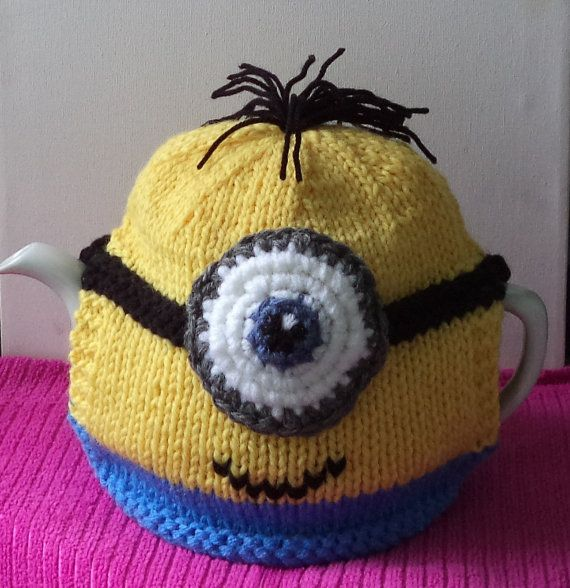 Despicable Me Minion Hand Knitted And Crocheted Tea Cosy Teas