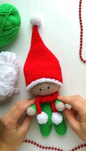 Photo of Weihnachtsgeschenk, Weihnachtsgnom-Muster, Häkelgnom-Muster, Amigurumi-Gnom, Amigurumi-Puppe