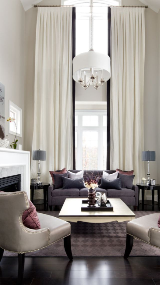 Nice Living Rooms Designs: Nice Decor For Formal Room With Tall Ceilings
