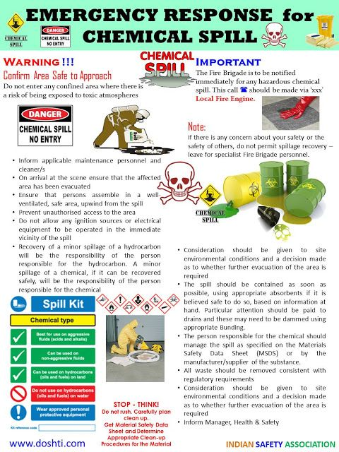 Emergency Procedures Chemical Spills Emergency Spills Chemical