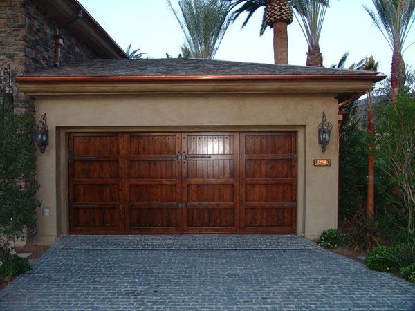 Carriage Garage Doors No Windows House Wood Stain Grade No