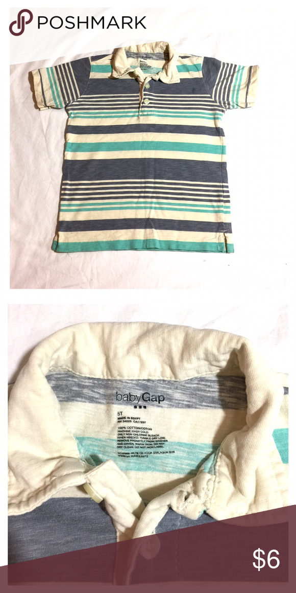 Baby gap polo shirt stripes Baby Gap  polo shirt stripes 100% cotton good condition babyGap Shirts & Tops
