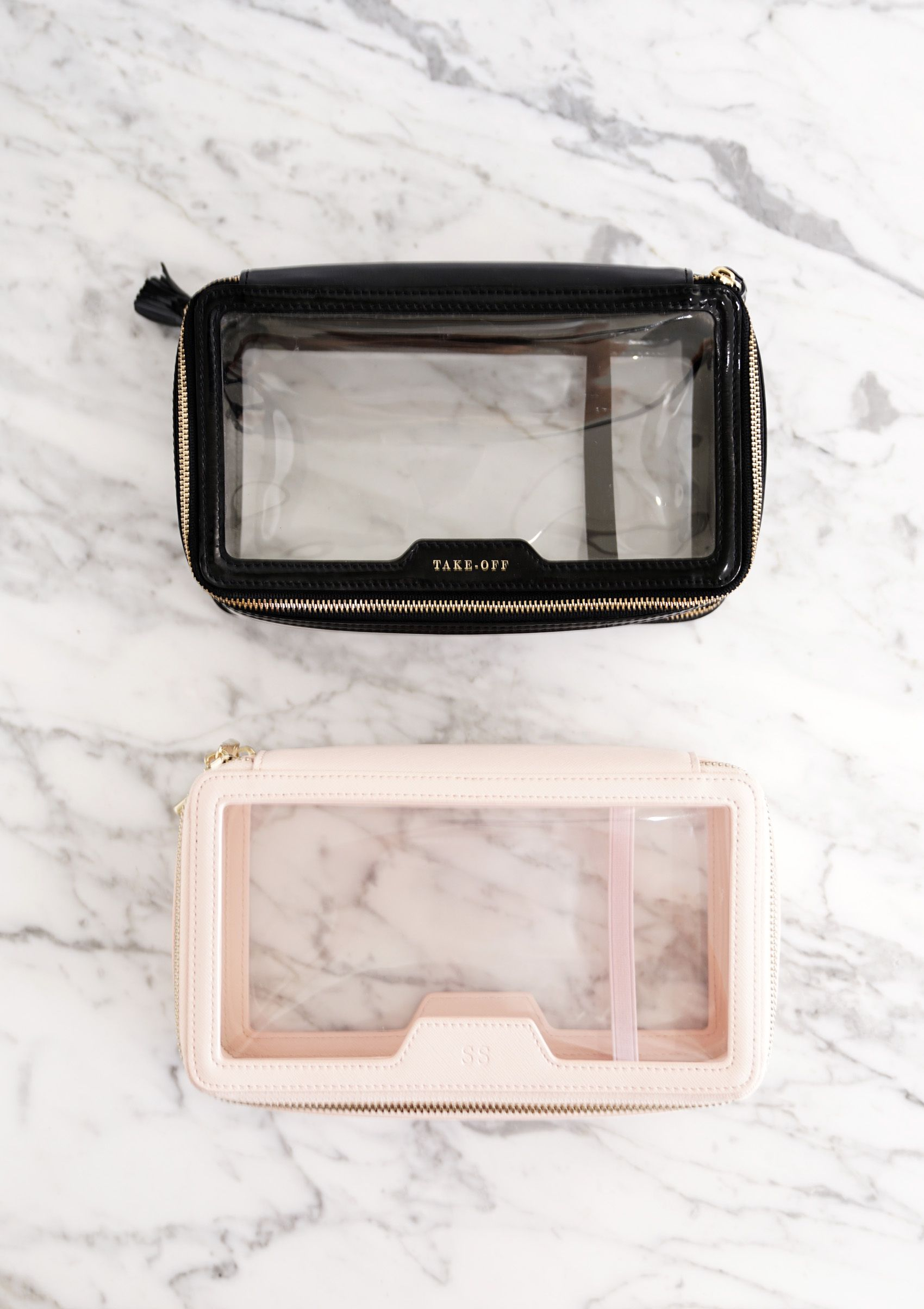 3c5618db9ca8 The Daily Edited Transparent Cosmetic Case vs Anya Hindmarch Inflight  Travel Case | The Beauty Look Book
