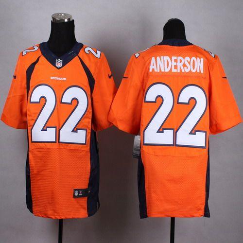 nike denver broncos 22 c. j. anderson 2013 orange elite jersey .