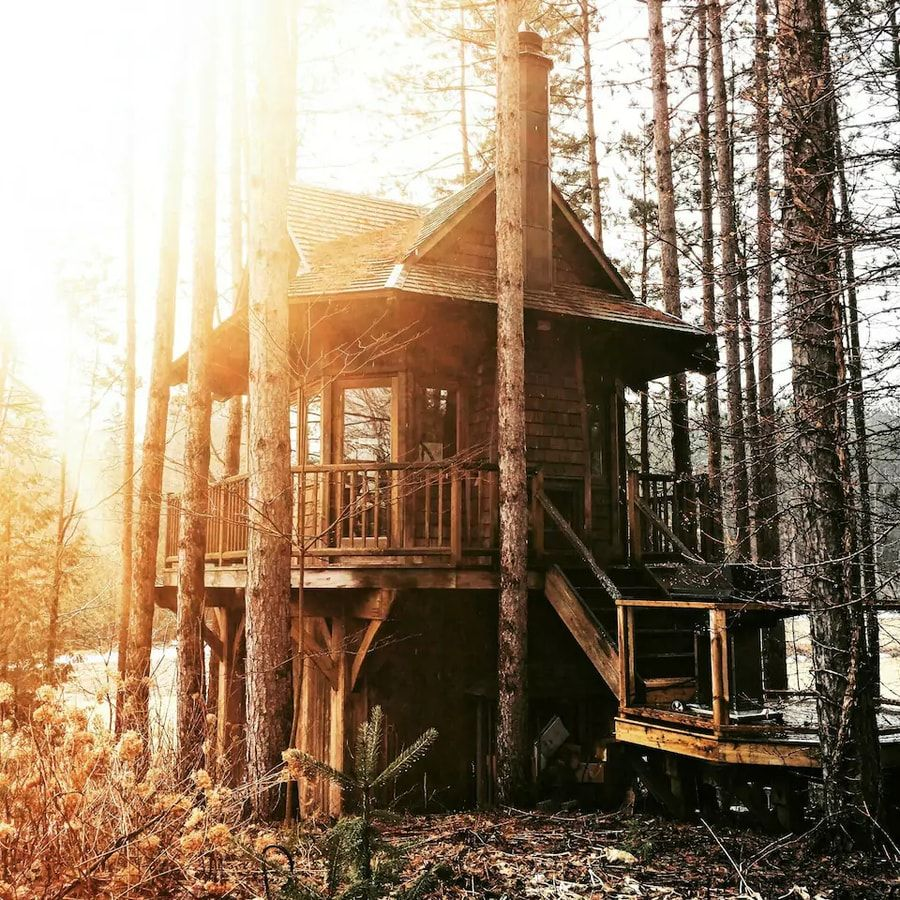Ontario Treehouse on 300 Isolated Acres