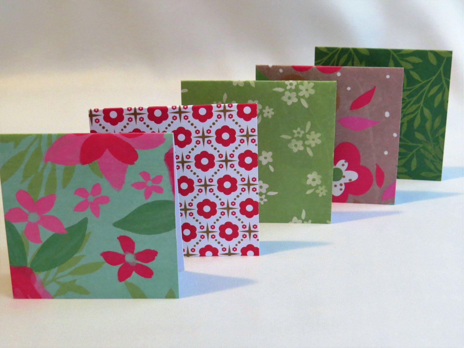 Handmade mini greeting card set of 5 floral patterns small cards handmade mini greeting card set of 5 floral patterns small cards birthday cards kristyandbryce Gallery