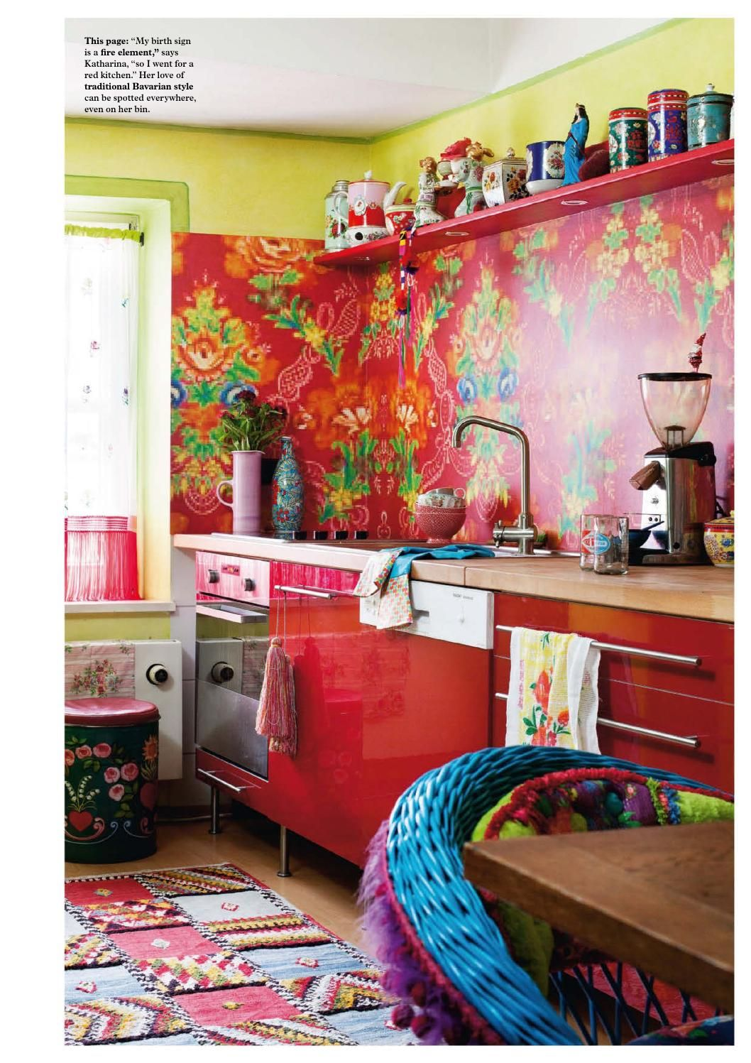 lovely colorful kitchen | Beautiful bright color kitchen to wake up to! Katharina ...