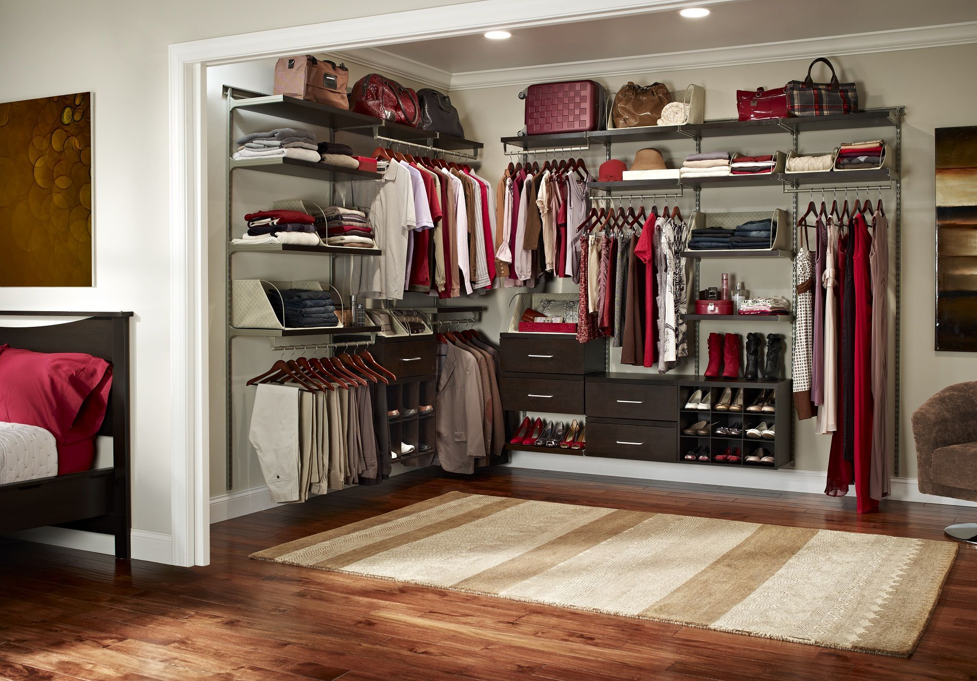 Create Your Own Walk In Closet In A Small Room Or Den.