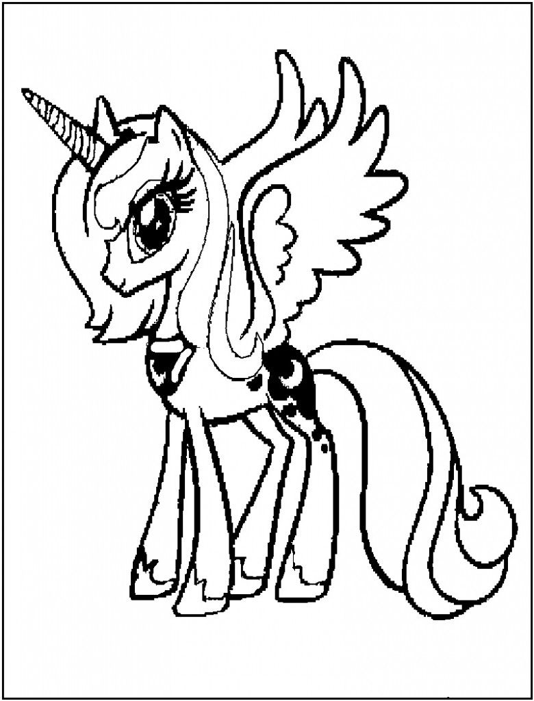 Free Printable My Little Pony Coloring Pages For Kids | Pony, Free ...