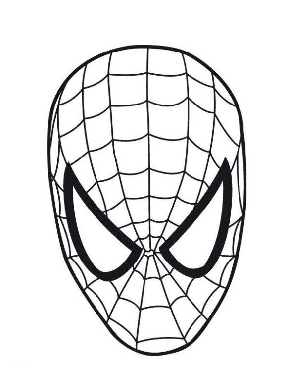 Printable Spider Man Mask Coloring Page DukaBooks