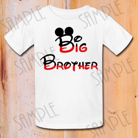 294ecacf8 INSTANT DOWNLOAD Mickey Mouse ears Disney iron on transfer, Big Brother,  Birthday Party, Printable Mickey Mouse iron on, Birthday shirt