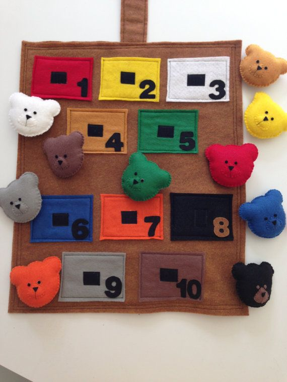 Bears Colors and Numbers Activity Book Play Mat by lindasornaments ...