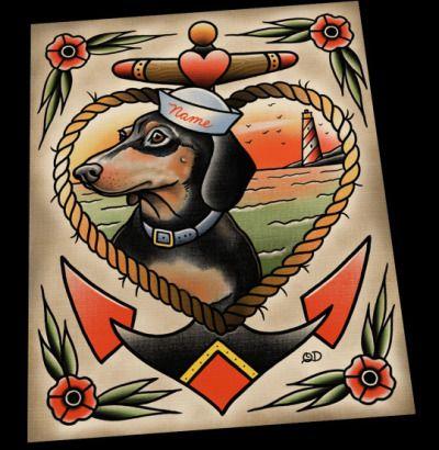 Dachshund Tattoo Google Search Puppy Tattoo Dachshund Tattoo