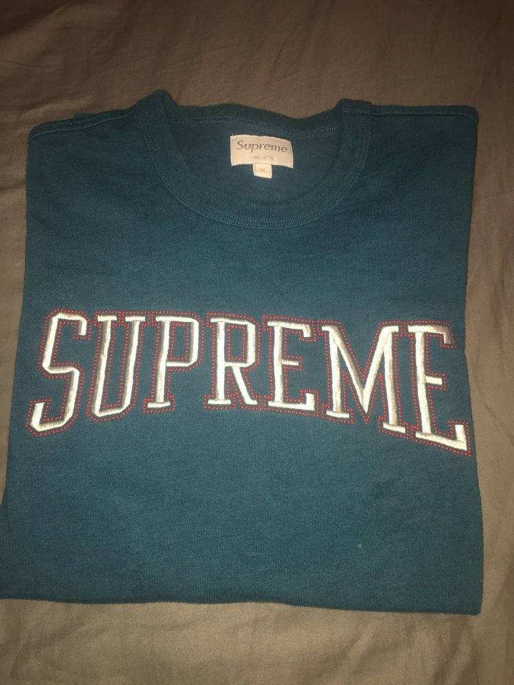 Supreme Dotted Arc Logo Top Jersey Tee T Shirt Size M Nds  fashion  clothing 00c73bc7cd3