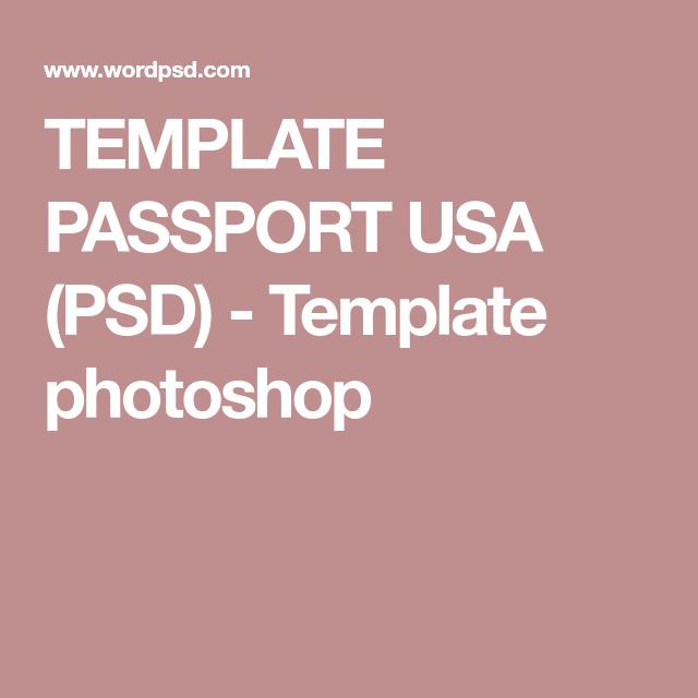 TEMPLATE PASSPORT USA (PSD) - Template photoshop | Driver licence ...