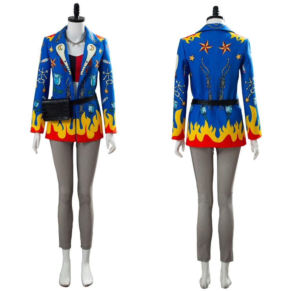 Birds of Prey Harley Quinn Cheerleader Dress Cosplay Costume Outfit Suit Pom-pom