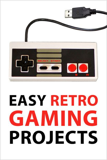 Easy Retro Gaming Projects | Video Games/Nerd Crafts | Cool