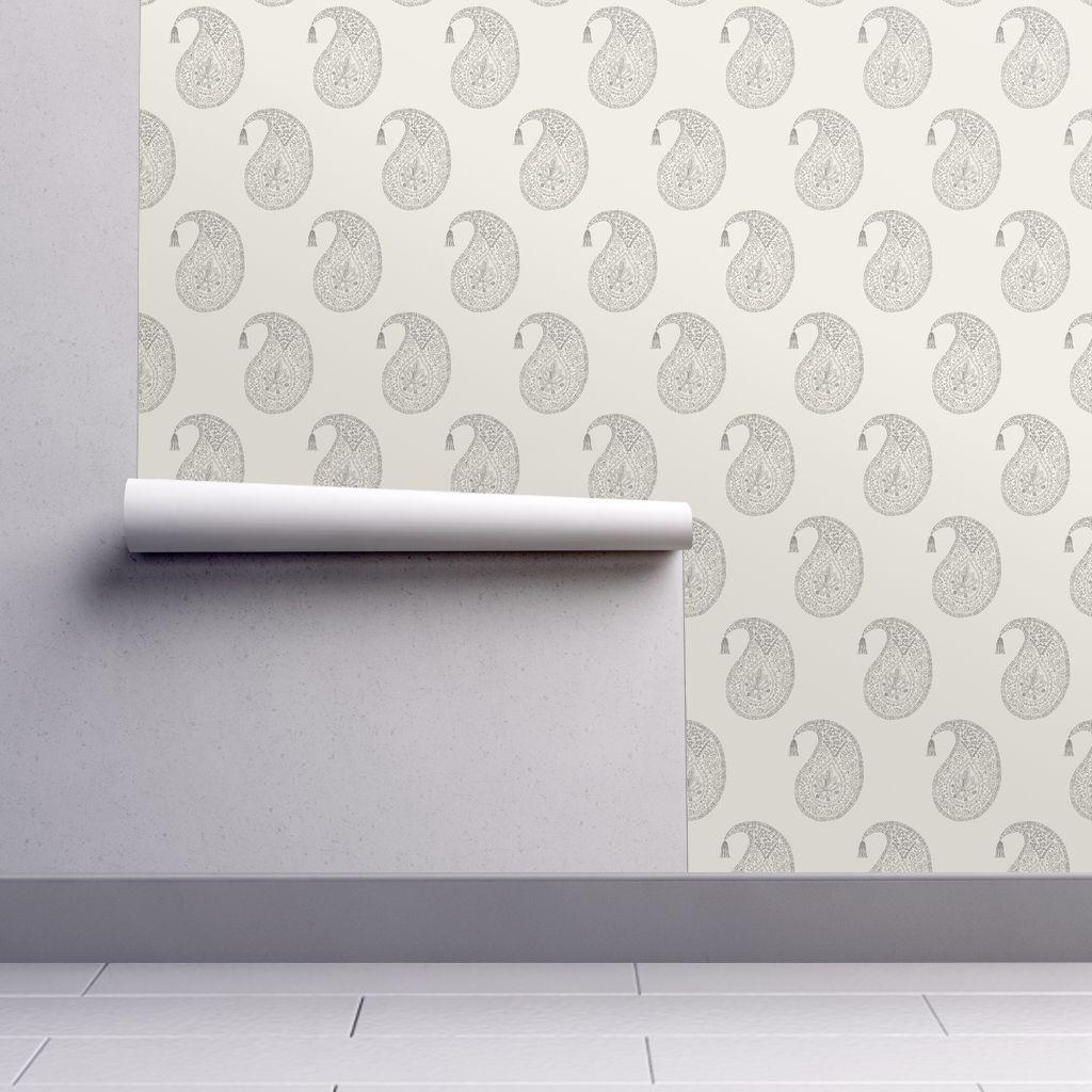 Bangalore In Smoke Spoonflower Wallpaper Perfect Wallpaper Textured Walls