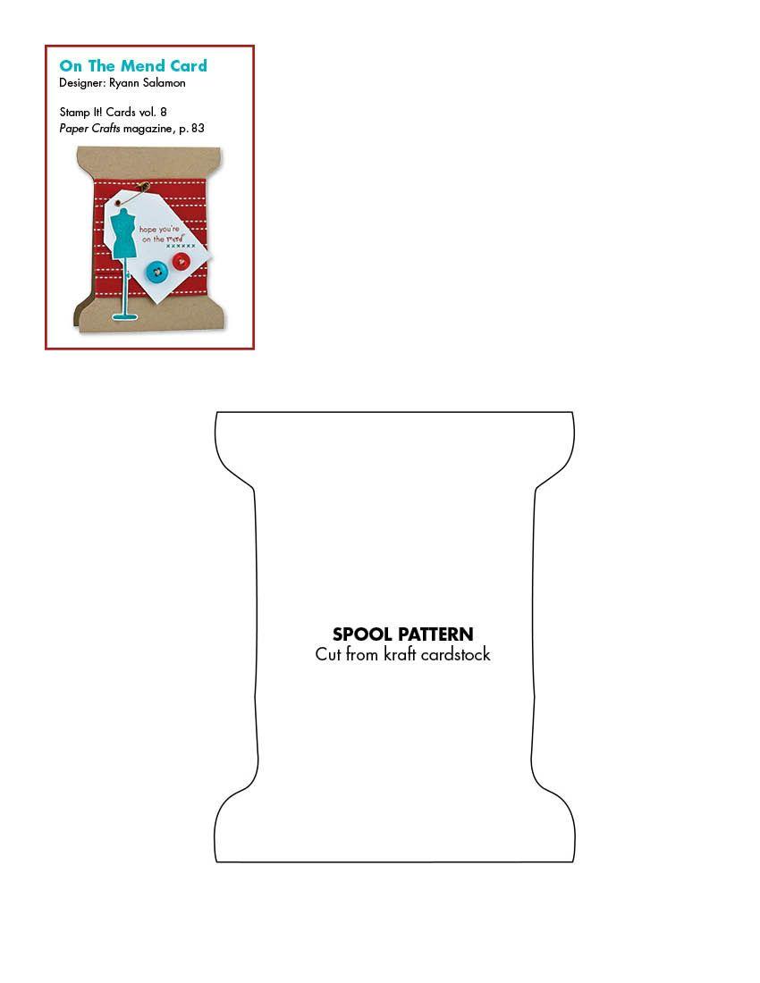 Spool template papercrafts | Tutorials ~ DIY | Pinterest | Template ...