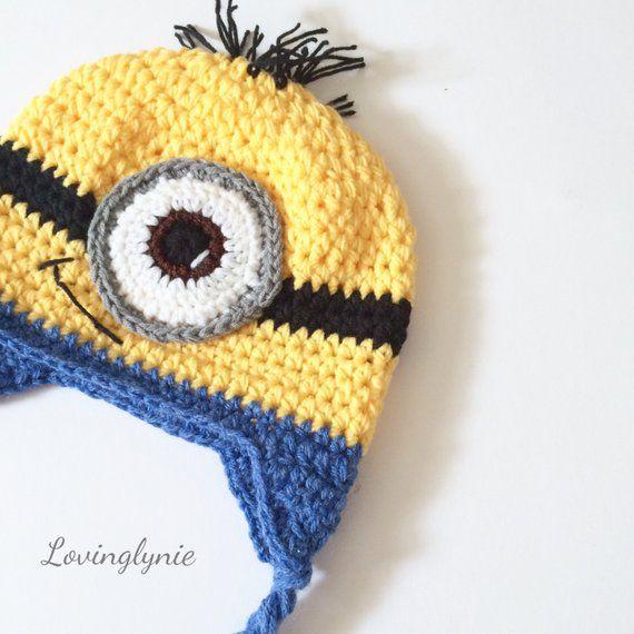 54083812d4c0f crochet minion hat   baby minion   minion gift   minion hat   baby beanie    photo prop